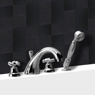 Tub Filler Roman Bathtub Faucet with Personal Shower Remer 06LI