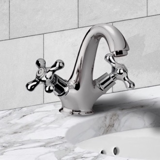 Bathroom Faucet One Hole Washbasin Mixer With Click-Clack Pop-Up Waste Remer LI13BUS