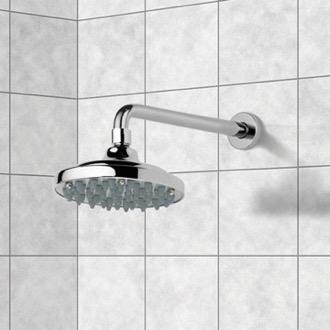 Shower Head Polished Chrome Rain Function Shower Head with Arm Remer 343-30-35315