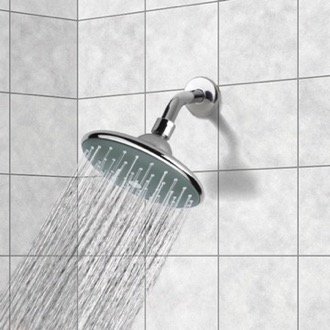 6 Inch Rain Shower Head With Arm, Chrome Remer 342-354PL