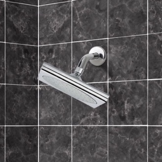 Shower Head Shower Head with Shower Arm in Polished Chrome Remer 342-356S