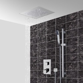 Thermostatic Shower System With 16