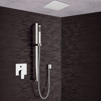 Shower Faucet Chrome Shower System with 13