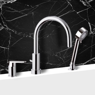 Tub Filler Roman Tub Faucet with Personal Shower Remer D07