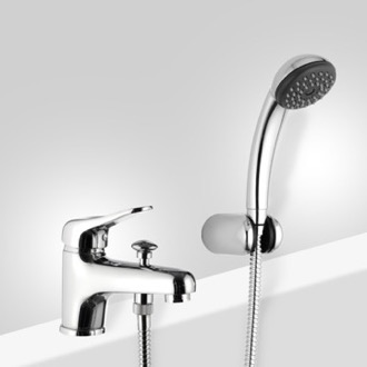 Chrome Bathtub Faucet with Personal Shower Remer K03