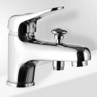 Chrome Bathtub Faucet With Diverter Remer K04