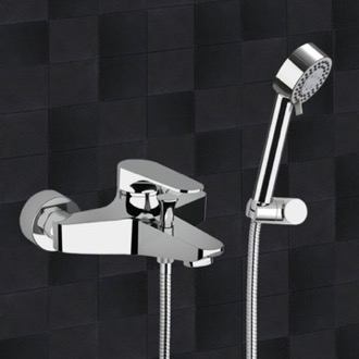 Bath Shower Mixer With Hand Shower and Shower Bracket Remer L02US