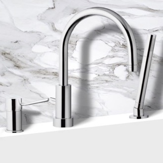 Roman Bathtub Faucet with Hand Shower Remer N07