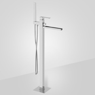 Tub Filler Floor Mounted Bath Mixer with Waterfall Spout Remer QC08US