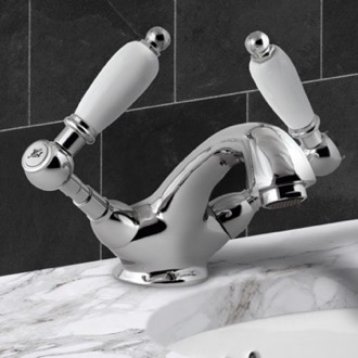 Bathroom Faucet Washbasin Mixer With Pop-Up Waste and Two Handles Remer LR13US