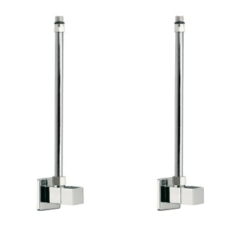 Two Square Angle Valves With Copper Piping Available In Polished Chrome Remer SA100S
