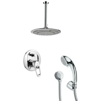 Shower Faucet Polished Chrome Shower Faucet Set with Hand Shower Remer SFH6001
