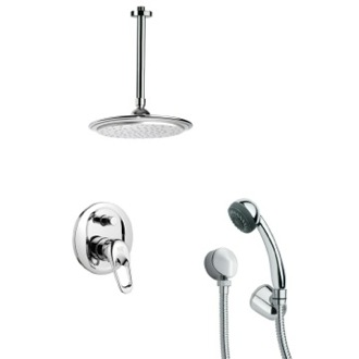 Shower Faucet Sleek Chrome Shower Faucet with Hand Shower Remer SFH6010