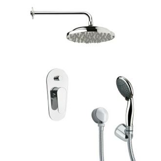 Shower Faucet Round Contemporary Shower System Remer SFH6052