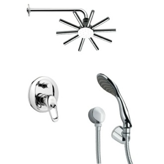 Shower Faucet Sleek Round Contemporary Shower System Remer SFH6085