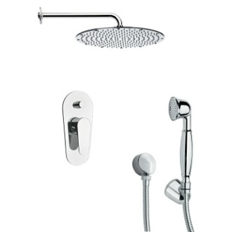 Shower Faucet Sleek Shower Faucet Set with Handheld Shower in 6 Finishes Remer SFH6090