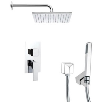 Shower Faucet Square Shower Faucet Set with Hand Shower in 6 Finishes SFH6099 Remer SFH6099