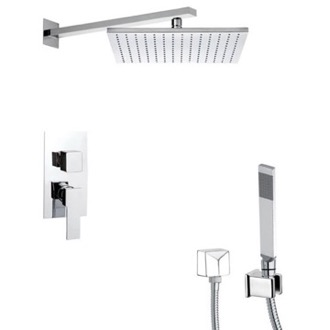 Shower Faucet Square Shower System with Hand Shower Remer SFH6514