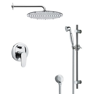 Shower Faucet Sleek Shower Faucet with Hand Shower in 6 Finishes Remer SFR7090