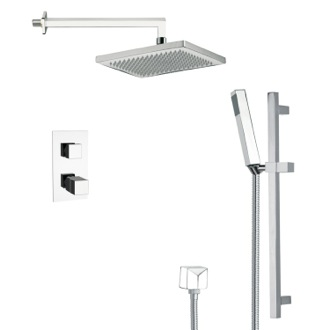 Shower Faucet Modern Thermostatic Shower Faucet with Slide Rail in 8 Finishes Remer SFR7402