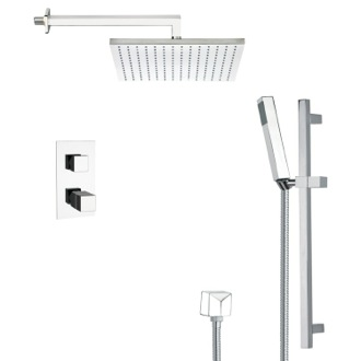 Shower Faucet Modern Thermostatic Shower Faucet with Slide Rail in 8 Finishes Remer SFR7403