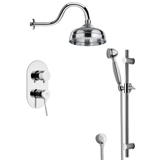 Shower Faucet Shower System Set with Sliding Rail SFR7525 Remer SFR7525
