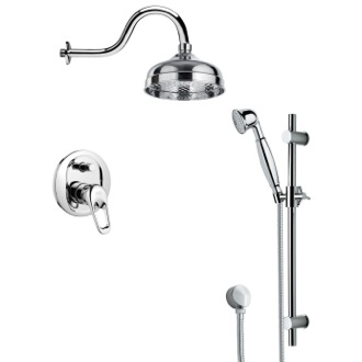 Shower Faucet Shower System with Sliding Rail SFR7527 Remer SFR7527