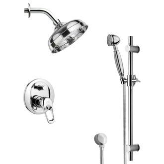 Shower Faucet Shower Faucet with Sliding Rail Available in 8 Finishes SFR7528 Remer SFR7528