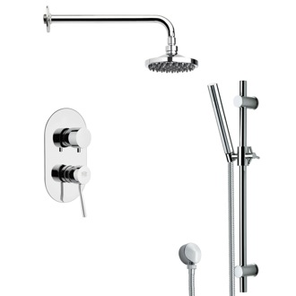 Shower Faucet Modern Shower System with Sliding Rail SFR7531 Remer SFR7531