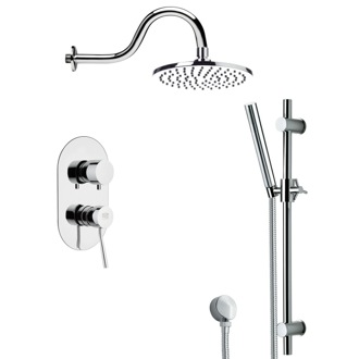 Shower Faucet Round Shower System Set With Sliding Rail SFR7536 Remer SFR7536