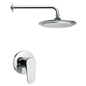 Shower Faucet Round Modern Rain Shower Faucet Set Remer SS1007