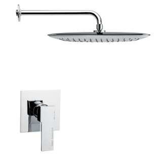 Shower Faucet Full Function Contemporary Chrome Shower Faucet Set Remer SS1012