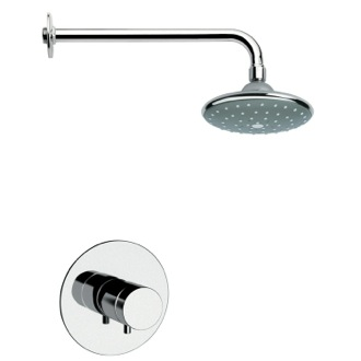 Shower Faucet Chrome and Modern Shower Faucet Set with Knob Remer SS1044