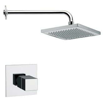 Shower Faucet Rectangular Contemporary Shower Faucet Set in 8 Finishes Remer SS1127