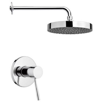 Shower Faucet Round Shower Faucet Set in Chrome Remer SS1197