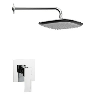 Shower Faucet Square Lever Shower Faucet Set in Polished Chrome Remer SS1228