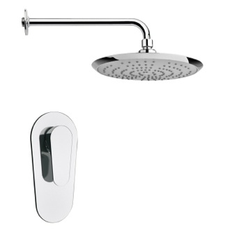 Shower Faucet Round Modern Shower Faucet Set in Polished Chrome Remer SS1237