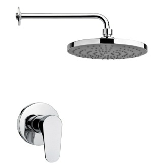 Shower Faucet Round Modern Shower Faucet Set in Polished Chrome Remer SS1238