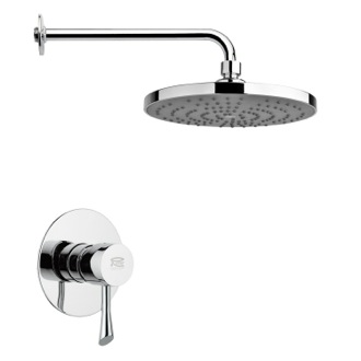 Shower Faucet Round Modern Shower Faucet Set in Polished Chrome Remer SS1240
