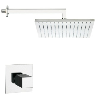 Shower Faucet Thermostatic Square Shower Faucet Set in Multiple Finishes Remer SS1403