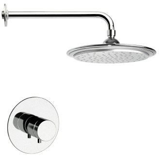 Shower Faucet Thermostatic Polished Chrome Shower Faucet Set Remer SS1407