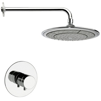 Shower Faucet Thermostatic Polished Chrome Shower Faucet Set Remer SS1408