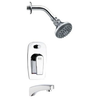 Tub and Shower Faucet Sleek Chrome Shower System Remer TSF2053