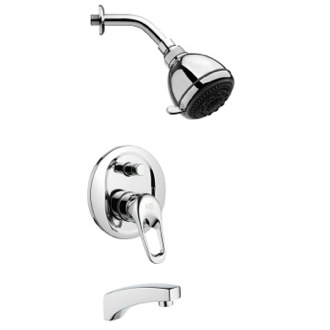 Tub and Shower Faucet Round Chrome Tub and Shower Faucet Set Remer TSF2247