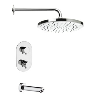 Tub and Shower Faucet Thermostatic Chrome Tub and Shower Faucet Set Remer TSF2408