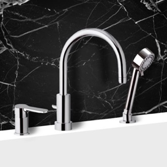 Tub Fillers Roman Bathtub Faucet with Hand Shower Remer W07