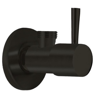 Matte Black Angle Valve With Single Handle Remer 128L-NO