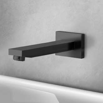 Matte Black Wall Mount Bathtub Spout Remer 91Q-NO