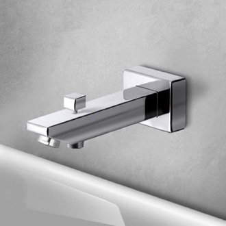 Square Tub Spout with Diverter Remer 91SD