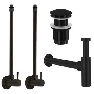 Matte Black All-Inclusive Sink Installation Kit Remer SA400-NO